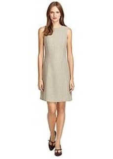 Sleeveless Wool and Cashmere Shift Dress