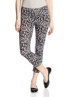 Hue Women's Leopard Cotton Capri Leggings