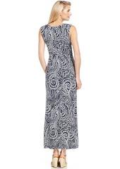 Charter Club Petite Sleeveless Paisley-Print Maxi Dress