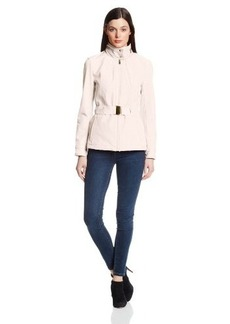 Kenneth Cole New York Women's Soft-Shell Belted Jacket