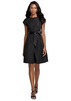 Short-Sleeve Ribbon Dress
