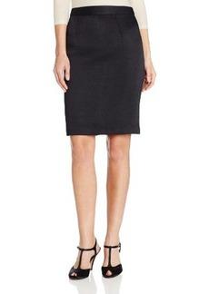 Nanette Lepore Women's Silhuoette Textured Pencil Skirt