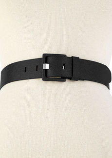 Calvin Klein Covered Buckle with Prong Closure Belt
