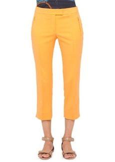 Akris punto Fabrizia Cropped Pants, Orange