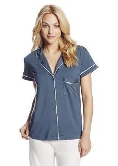 Calvin Klein Women's Structure Short Sleeve Pajama Top