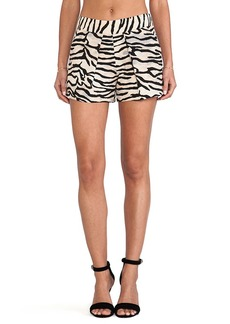Rebecca Taylor Tiger Print Shorts in Taupe