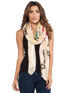Twelfth Street By Cynthia Vincent Geo Ikat Scarf in Tan