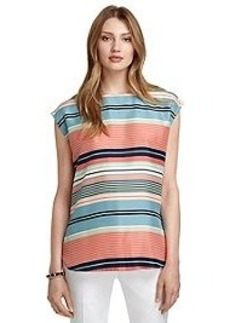 Silk Variegated Stripe Blouse