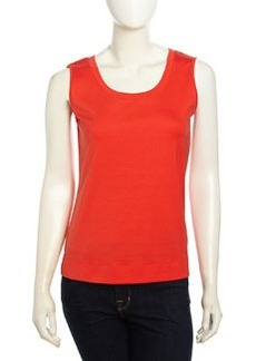 Lafayette 148 New York Sleeveless Pullover Stretch Tank, Dayglow