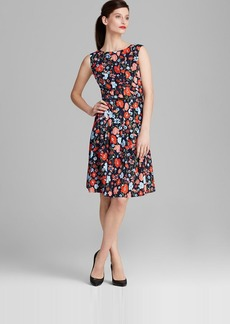 Jones New York Collection Poppy Print Belted Dress