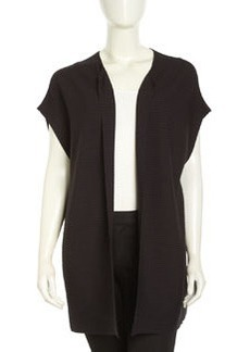 Lafayette 148 New York Ribbed Crepe Oversized Vest