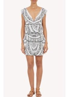 Twelfth Street by Cynthia Vincent Abstract-Print Sleeveless Romper