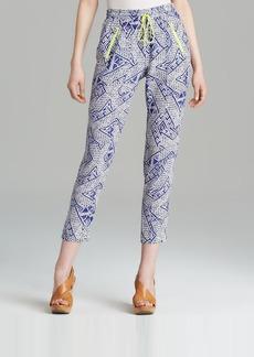Dolce Vita Pants - Gerra Block Print Silk