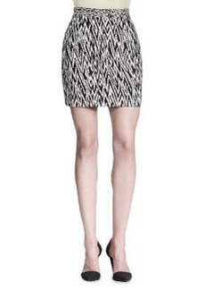 Proenza Schouler Abstract-Print Miniskirt