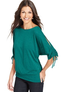 Style&co. Split-Sleeve Banded Top