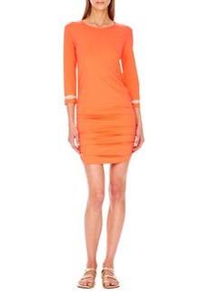 MICHAEL Michael Kors Shirred-Hem Coverup Dress
