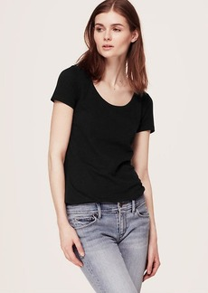 Petite Sunwashed Scoop Neck Tee