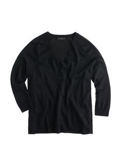 Merino wool side-panel V-neck sweater