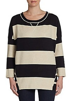 French Connection Varsity Striped Tunic Sweater