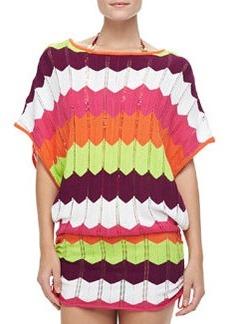 Trina Turk Printed Crochet Coverup Tunic