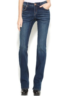 INC International Concepts Curvy-Fit Bootcut Jeans, Percy Wash