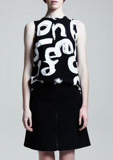 Proenza Schouler Zip-Front A-Line Skirt