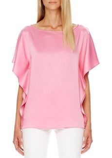 Michael Kors Satin Flutter-Sleeve Tunic