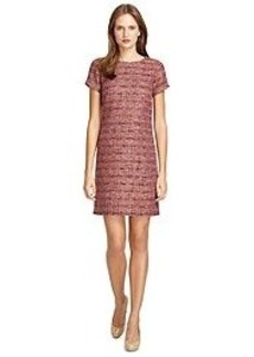 Short-Sleeve Boucle Dress