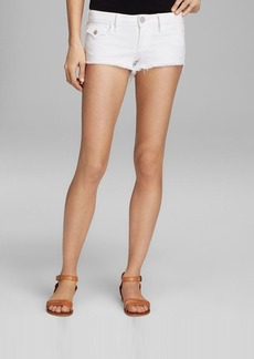 True Religion Shorts - Joey Cutoff with Flap Pocket in Optic White
