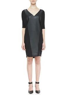 Velvet by Graham & Spencer Faux-Leather-Panel Terry Dress