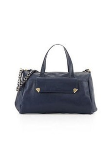 Foley + Corinna Unchained Pebbled Leather Duffel, Navy