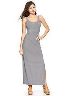 Stripe ballet maxi dress