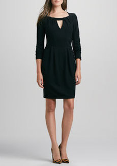 French Connection Marie Long-Sleeve Keyhole Dress