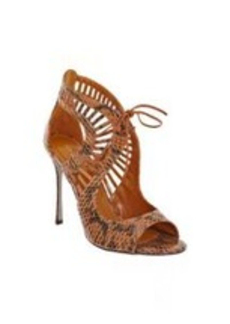 sergio rossi sergio rossi snakeskin cutout sandal shoes shop it to me. Black Bedroom Furniture Sets. Home Design Ideas