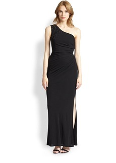 Laundry by Shelli Segal One-Shoulder Jersey Gown