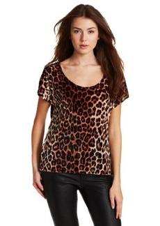 Lucky Brand Women's Leopard Print Tammy Velvet Top