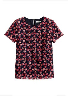 Collection floral organza tee