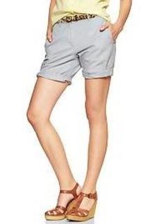 Boyfriend roll-up shorts