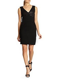Diane von Furstenberg Glenda Leather-Accented Dress