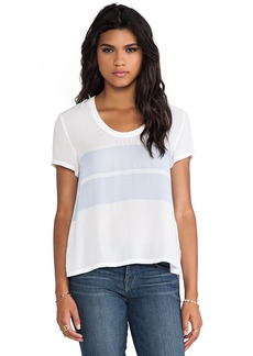 James Perse Relaxed Stripe Tee in White