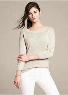 Ribbed Linen Pullover