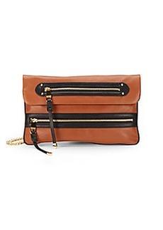 Badgley Mischka Mila Colorblock Leather Flapover Shoulder Bag