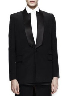 Notched-Neck Tuxedo Jacket   Notched-Neck Tuxedo Jacket