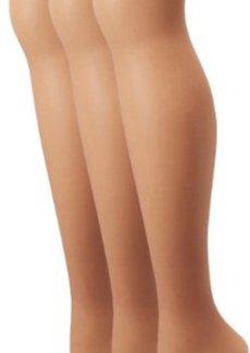 Hue Women's 3-Pack So Silky Control Top Sheer Hosiery