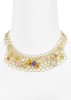 ABS by Allen Schwartz Charmed Color Bib Necklace, 16""