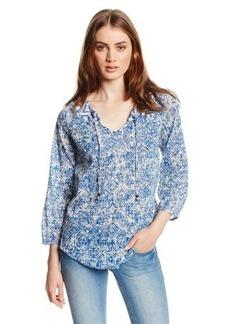 Lucky Brand Women's Blue Printed Top