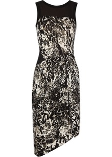 DKNY Animal-print stretch-jersey dress