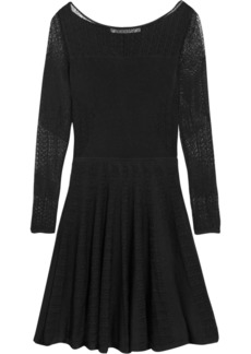 Diane von Furstenberg Prista crocheted jersey dress