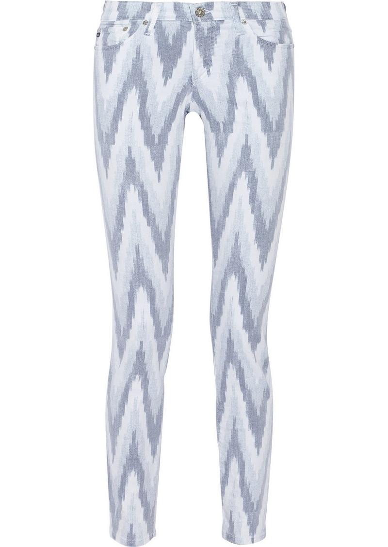 AG Jeans The Stilt printed skinny jeans