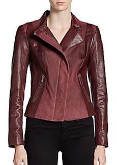 Andrew Marc Leighton Leather Moto Jacket
